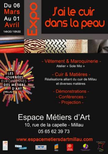 millau art et savoir faire, le mois du cuir, millau, artisan, créateurs, cuir, pièce unique